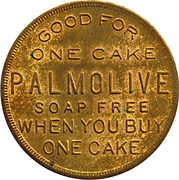 Token - 1 Cake Palmolive Soap Free (Chicago, Illinois) -  avers