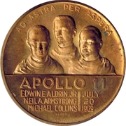 Token - Apollo 11 (First On The Moon) – avers
