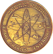 Token - Lake Charles Centennial – avers