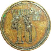 10 Pfennig - Wilhelm Volker – avers
