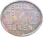 1 Pence Bottle Token - ADFC  – revers