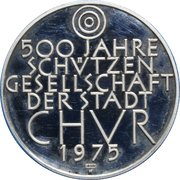Switzerland, 500 Years Protection Society for the City of Chur – revers