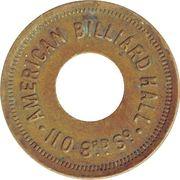 5 Cents - American Billiard Hall – avers