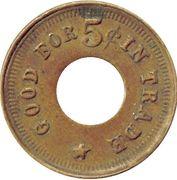5 Cents - American Billiard Hall – revers