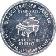 10 dollars - W. F. Schwentker Piano Co. – avers