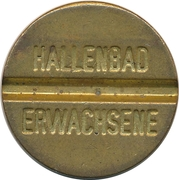 Public swimming pool token - Hallenbad Erwachsene – avers