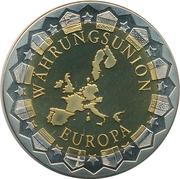 Token - Währungsunion Europa (Berlin - Reichstag)) – revers