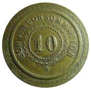 10 centimes à consommer – revers