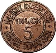 Jeton de péage - Halifax Dartmouth Bridge Commission (Truck 5) – avers