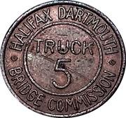 Jeton de péage - Halifax Dartmouth Bridge Commission (Truck 5) – revers