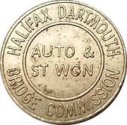 Jeton de péage - Halifax Dartmouth Bridge Commission (Auto & St Wgn) – avers