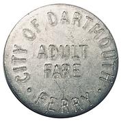 Adult Fare - City of Dartmouth Ferry (incuse lettering; Nova Scotia) – avers