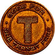 Port Alberni Tyee Bus Co. Fare Token – revers