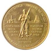 Ontario Mining Industry -Canadian Centennial Medallion 1967 Brass – avers