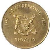 Ontario Mining Industry -Canadian Centennial Medallion 1967 Brass – revers