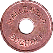 Public swimming pool token - adult - (Bocholt) – avers