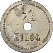 1/2 kilo - boulangerie coopérative- Ussel - 19 – revers