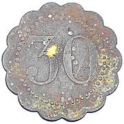 30 centimes Caisse Nationale d'Epargne Postale - Paris [75] – revers
