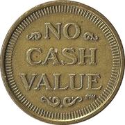 Token - No Cash Value (Clown; 20 mm; Long teeth around edge) – revers