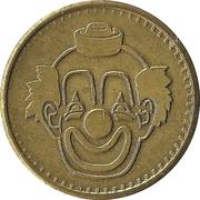 Token - No Cash Value (Clown; 20 mm; Long teeth around edge) – avers