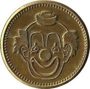 Token - No Cash Value (Clown; 20 mm; Short teeth around edge) – avers
