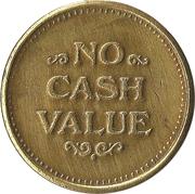 Token - No Cash Value (Clown; 20 mm; Short teeth around edge) – revers