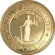 Token - United States Bicentennial, Burke County, North Carolina – avers
