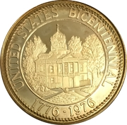 Token - United States Bicentennial, Burke County, North Carolina – revers