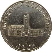 London Ontario Commemorative Token (University of Western Ontario 1878-1978) – revers