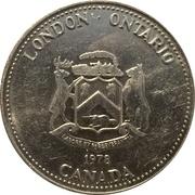 London Ontario Commemorative Token (University of Western Ontario 1878-1978) – avers