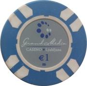 1 Euro - Grand Media (Ljubljana) – avers