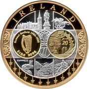 Euro fantasy medal Ireland – avers