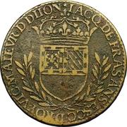 États de Bourgogne - Maire de Dijon Jacques de Frasans (1er type) – revers