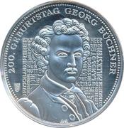 Token - Die Deutschen Prägestätten (The 200th Anniversary of Georg Büchner) – avers