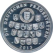 Token - Die Deutschen Prägestätten (The 200th Anniversary of Georg Büchner) – revers