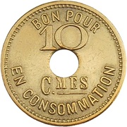 10 Centimes - L'Oracle – revers