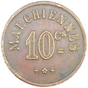 10 Centimes - Marchiennes (Charlroi) – revers