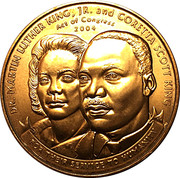 Martin Luther King, Jr. and Coretta Scott King Medal – avers