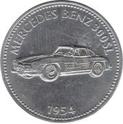 Jeton Shell - Mercedes Benz 300SL 1954 – avers