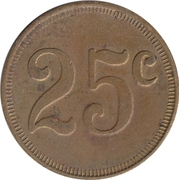 Token - 25¢ – avers