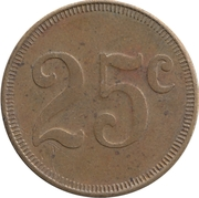Token - 25¢ – revers