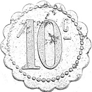 10 centimes Société Coopérative de Thaon les Vosges [88] – revers