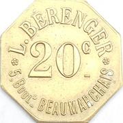 20 Centimes - Au drapeau -L. Beranger - Paris - 75 – revers