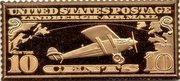 Token - U.S. Postage (10 Cents Lindbergh) – avers