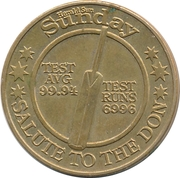 Commemorative Medal - Herald Sun Sunday (Sir Donald Bradman) – revers