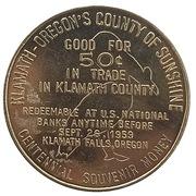 50 Cent - Oregon's County of Sunshine (Klamath County, Oregon) – revers