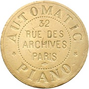 Automatic Piano - Paris [75] – avers