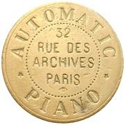 Automatic Piano - Paris [75] – revers