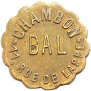 Bal Chambon - Paris [75] – avers