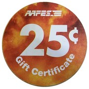 25 Cents - Army & Air Force Exchange Gift Certificate – revers